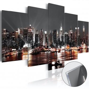 Afbeelding op acrylglas Gray City - 100x50 cm