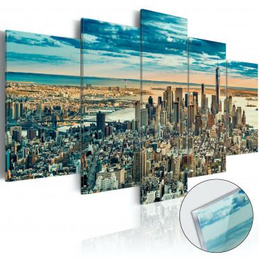 Afbeelding op acrylglas NY: Dream City - 100x50 cm