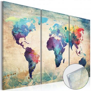 Afbeelding op acrylglas Rainbow Map - 120x80 cm