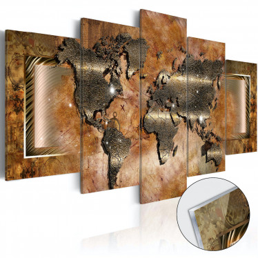 Afbeelding op acrylglas Steel Map - 100x50 cm