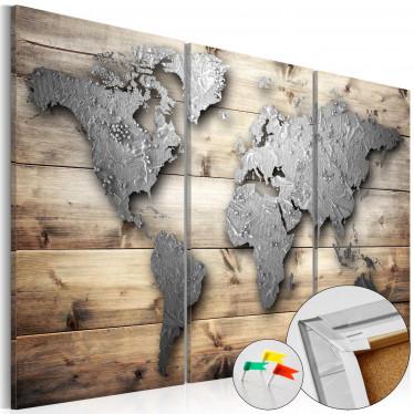 Afbeelding op kurk Doors to the World - 120x80 cm