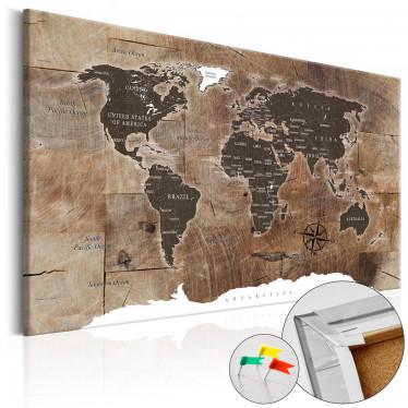 Afbeelding op kurk Wooden Mosaic - 120x80 cm