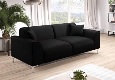 Bankstel Moana 3 - Zwart - Leer