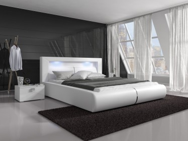 Tweepersoonsbed Cylano - Wit - 140x200 cm