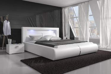 Bed Cylano - Wit - 180x200 cm