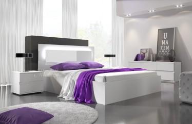 Bed Daiya - Wit - 140x200 cm