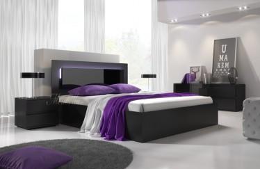 Bed Daiya - Zwart - 160x200 cm