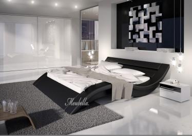 Bed Mallorca - Zwart - 200x200 cm - ACTIE