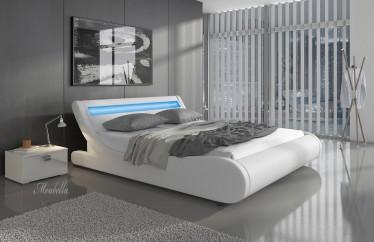 Bed Monica - Wit - 180x200 cm