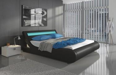 Bed Monica - Zwart - 180x200 cm
