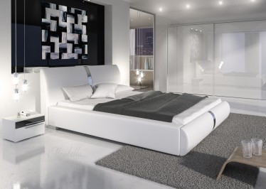 Bed Rivalo I - Wit - 160x200 cm
