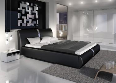 Bed Rivalo I - Zwart - 160x200 cm