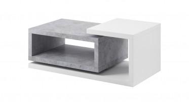 Salontafel Bello - Beton - Wit - 120 cm