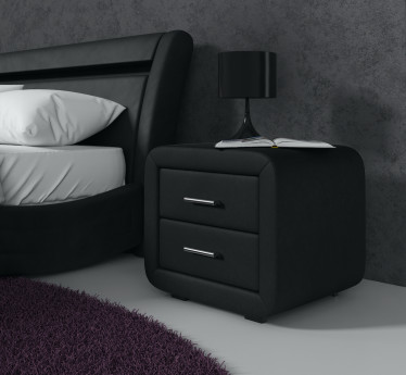 Nachtkastje Block - Zwart