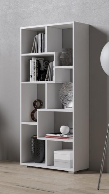Boekenkast Duno 4 - Wit - 122 cm