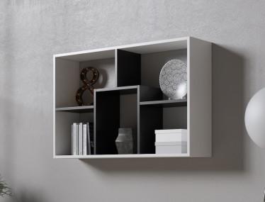 Boekenkast Duno 2 - Wit - Zwart - 97 cm - ACTIE