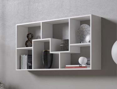 Boekenkast Duno 3 - Wit - 122 cm