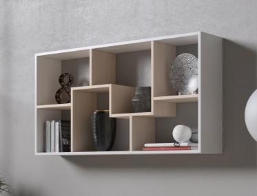 Boekenkast Duno 3 - Wit - Licht eiken - 122 cm - ACTIE