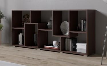 Boekenkast Duno - Wenge - 163 cm