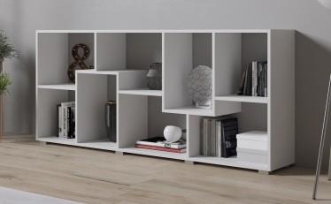 Boekenkast Duno - Wit - 163 cm