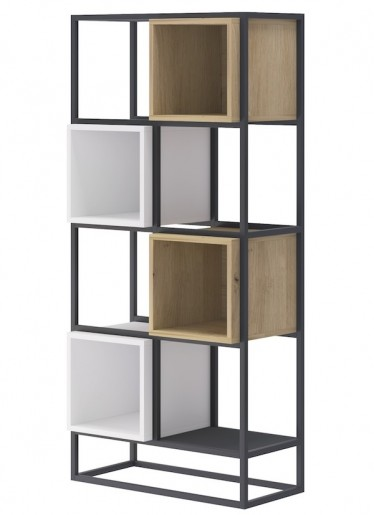 Boekenkast Eos - Eiken - Wit - 66 cm
