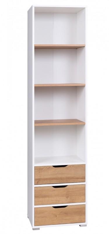 Boekenkast Ivano - Wit - Eiken - 50 cm