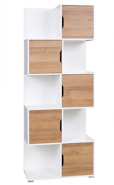 Boekenkast Ivano - Wit - Eiken - 78,5 cm