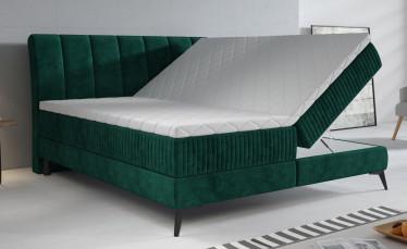 Boxspring Acotta - Groen - Velvet - 180x200 cm - Compleet