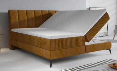 Boxspring Acotta - Okergeel - Velvet - 180x200 cm - Compleet