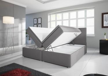 Boxspring Diva - Lichtgrijs - met gasliftsysteem - 180 x 200 cm - Showroommodel