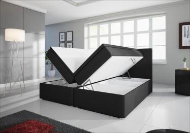 Boxspring Diva - Zwart - met gasliftsysteem - 160 x 200 cm - ACTIE