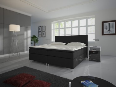 Boxspring Sona - Zwart - 160x200 cm - Showroommodel