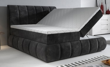Boxspring Venigo - Zwart - 180x200 cm - Compleet