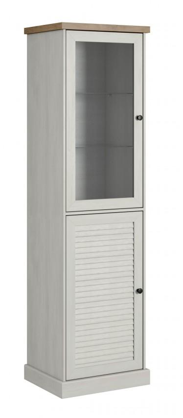 Vitrinekast Benidorm - Wit - Eiken - 57 cm