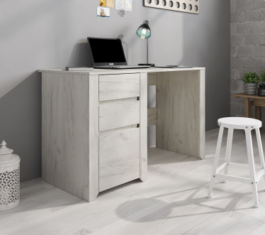 Bureau Aversa - Wit eiken - 119 cm
