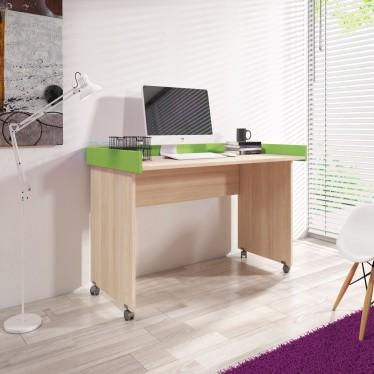 Bureau Coria 2 - Licht eiken - Groen