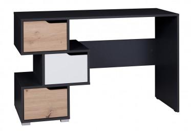 Bureau Ivano - Grijs - Wit - Eiken - 120 cm