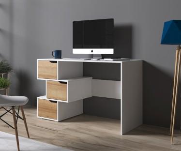 Bureau Ivano - Wit - Eiken - 120 cm