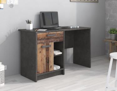 Bureau Norton - Old wood - Grijs - 120 cm