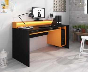 Bureau Tamara 2 - Zwart - Oranje - RGB LED - 160 cm - ACTIE