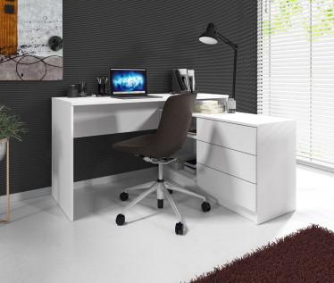 Bureau Tammy - Wit - 138 cm