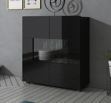 Dressoir Calgary - Zwart - 100 cm - ACTIE