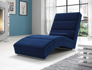 Chaise longue Cabernet - Blauw - Velvet