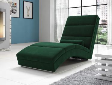 Chaise longue Cabernet - Donkergroen - Velvet