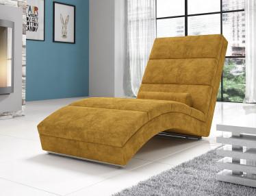Chaise longue Cabernet - Geel - Velours