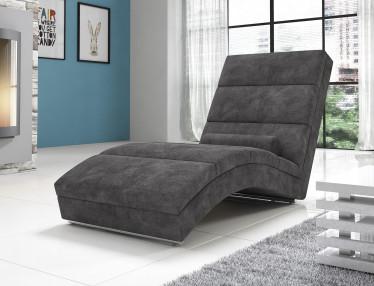 Chaise longue Cabernet - Grijs - Velours