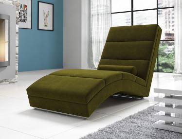 Chaise longue Cabernet - Groen - Velvet