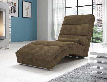 Chaise longue Cabernet - Olijfgroen - Velours