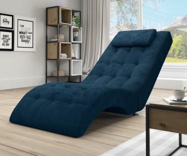Chaise longue Cherry - Blauw - Velvet