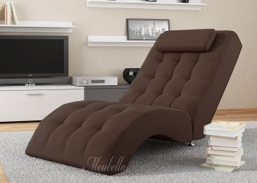 Chaise longue Cherry - Donkerbruin